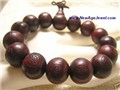 Big Tibetan Red Sandalwood Buddha Prayer Beads Mala Bracelet