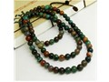 Tibetan 108 6mm Indian Jade Gemstone Prayer Beads Mala Necklace